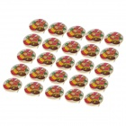Jingling Bell Pattern Red and Blue Light 3-LED Badges - White + Red + Green (3 x LR41 / 25 PCS)