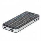 iPazzPort 2.4GHz Mini Wireless Fly Air Mouse Wireless Keyboard w/ IR Remote - Black