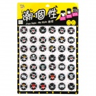Various Skulls Pattern Tin Plate Badges Set - Black + Red + White + Yellow (42 PCS)