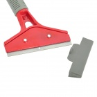 B20 Short-Handled Blade Car Windshield Glass Scraper - Grey + Red