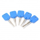 AML020036 5-in-1 LockSmith Lock Pick Try-Out Keys Set for Cross Lock - Blue + Silver