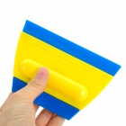 A81 Double Head Ice Frost Snow Car Scraper - Blue + Yellow