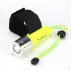 New-608 Cree XM-L T6 800lm 1-Mode White Light Diving Flashlight - Fluorescent Green (1 x 18650)