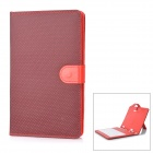 "Protective Artificial Leather Case w/ 80-Key Keyboard for 7"" Tablet - Red"