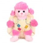 Cartoon Dog Doll Style Backpack Bag Toy for Children - Pink + Beige