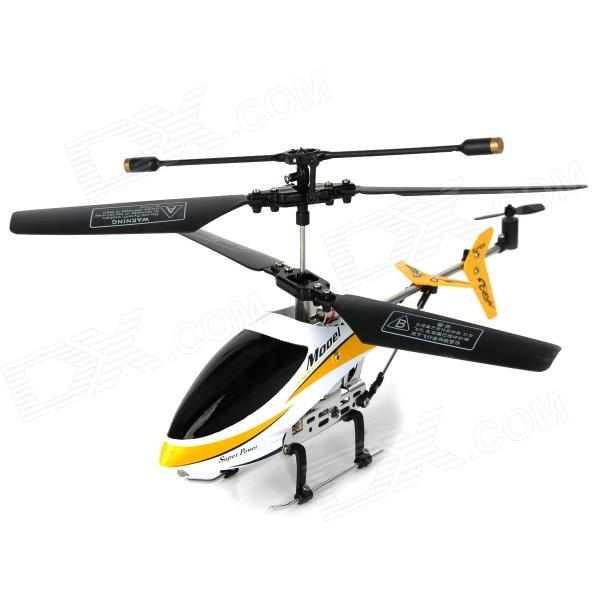 Rechargeable 2.5-CH IR Remote Controlled R/C Helicopter - White + Black + Yellow remote controlled rechargeable racing kart r c car with desktop stand 40mhz