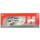 Rechargeable 2.5-CH IR Remote Controlled R/C Helicopter - White + Black + Yellow