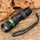 Wolf-Eyes 00039 235lm 3-Mode Memory Zooming Flashlight - Black (1 x 18650 / 3 x AAA)