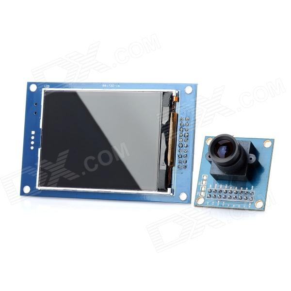DIY 8051 2.8 Screen OV7670 Glass Fiber Camera Module for MCU - Blue elp 1080p h264 aptina ar0330 color cmos camera module usb cctv full hd 2 8mm wide angle lens camera module usb with audio mic