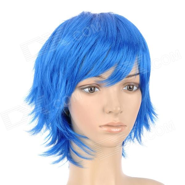 HMD638 B061 Fashion Cosplay Short Straight Hair Wig - Blue