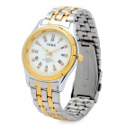 Mike 8802 Male Die Stainless Steel Band Analog Quarz-Armbanduhr - Silber + Golden (1 x LR626)