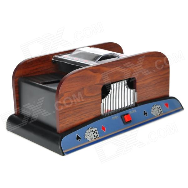 Deluxe Wooden 1~2 Deck Automatic Card Shuffler (4 x AA)