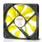 Akasa AK-FN059 Viper 120mm 4-Pin PWM 9-Blade Cooling Heatsink Fan for Computer - Yellow + Black