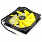 Akasa AK-FN063 Viper 140mm 4-Pin PWM 9-Blade Cooling Heatsink Fan for Computer - Yellow + Black