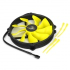 Akasa AK-FN073 Viper 140mm 4-Pin PWM 9-Blade Cooling Heatsink Fan for Computer - Yellow + Black