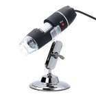10mm ~ 50mm 200X USB Digital Microscope Magnifier w / 8-LED branco luz   lâmpada-Preto