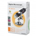 10mm~50mm 200X USB Digital Microscope Magnifier w/ 8-LED White Light - Black