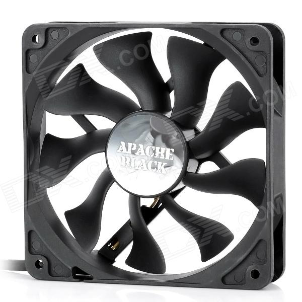 цены Akasa AK-FN058 Apache 120mm 4-Pin PWM 9-Blade Cooling Heatsink Fan for Computer - Black
