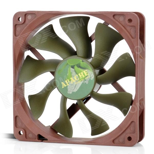 Akasa AK-FN057 Apache 120mm 4-Pin PWM 9-Blade Cooling Heatsink Fan for Computer - Army Green