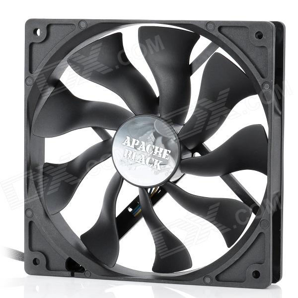 Akasa AK-FN062 Apache 140mm 4-Pin PWM 9-Blade Cooling Heatsink Fan for Computer - Black the physical world wall map material laminated