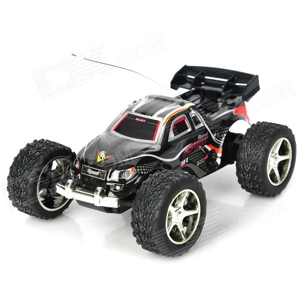 Rechargeable 2-Channel 27~40MHz R/C Off-Road Vehicle Model Toy - Black 9099 20e r c 4 channel ir controlled wall climber vehicle model toy yellow blue black