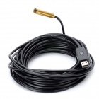 Mini 10mm Waterproof USB Endoscope 4-LED White Light Camera - Black + Golden