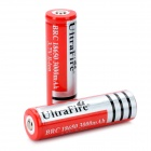 "UltraFire BRC 18650 ""3000mAh"" 3.7V Li-ion Rechargeable Batteries - Red (2 PCS)"