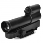 15mW Red Laser Aiming Lens Rifle Scope - Black (4 x CR2032)