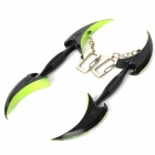 TV Tokyo CrossFire Two-edged Claw Design Iron Key Chain - Black (2 PCS)