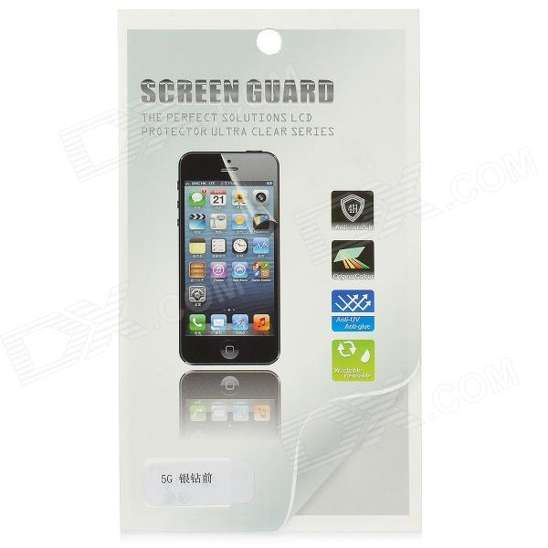 Protective Glossy Screen Protector Guard Film for Iphone 5 - Transparent Silver protective glossy lcd screen protectors set for iphone 5 transparent 10pcs