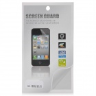 Protective Glossy Front + Back Screen Protector Guard Film for Iphone 5 - Transparent Silver