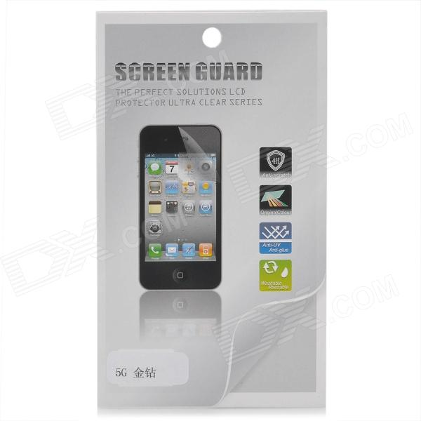 Protective Glossy Screen Protector Guard Film for Iphone 5 - Transparent Golden protective glossy lcd screen protectors set for iphone 5 transparent 10pcs