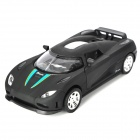 Multi-Function Aluminum Alloy Pull Back Car Toy Model - Black (3 x LR1130)