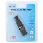 USB 2.0 to RJ45 100/1000Mbps Ethernet LAN Network Adapter - Black