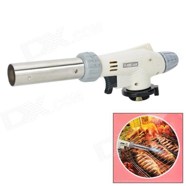 Multi-Function Adjustable Auto Ignition Gas Butane Brazing Torch - White + Grey (1500'C)