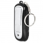 Creative USB Rechargeable Plastic Electronic Lighter w/ 3-LED / Keychain - Black