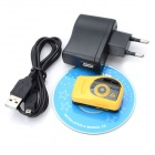 T7000 12M CMOS HD 1080P Mini DV Camcorder w/ Mini USB - Yellow