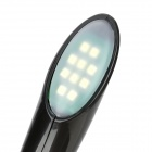 USB Powered 10-LED 75lm White Light Flexible Neck Touch Switch Lamp - Black