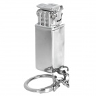 Mini Aluminum Alloy Refillable Butane Flint Lighter w/ Keychain - Silver