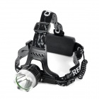 Cree XM-L T6 868lm 3-Mode White Light Headlamp - Black (2 x 18650)