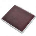 Exquisite PU Leather Cigarette Case - Brown