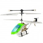 Rechargeable 3.5-CH IR Remote Controlled R/C Helicopter w/ Gyro - Green + White + Black + Silver