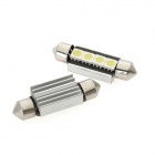 CANBUS Festoon 39mm 1.8W 60lm 4-SMD 5050 LED White Light Car Dome Lamp w/ Heat Sink (12V / 2PCS)