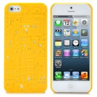 Protective 3D Castle Pattern Back Cover Case for iPhone 5 - Yellow