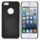 Protective Plastic Cover Case for iPhone 5 - Black