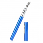 Mini Pocket Aluminum Alloy Pen Fishing Rod Pole w/ Reel - Blue