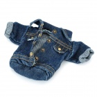 Cool Denim Shirt Design Cell Phone Pouch Bag w/ Neck Strap - Blue