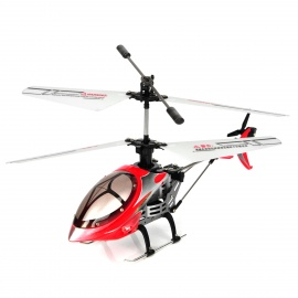 Rechargeable 4-CH IR Remote Controlled R/C Helicopter w/ Gyro - Red + Black + Silver