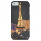 Iron Tower Pattern Protective PC Back Case for Iphone 5 - Black