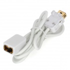 WM520-100 Male to Female Extension Cable for Nintendo Wii Controller - White (100cm)